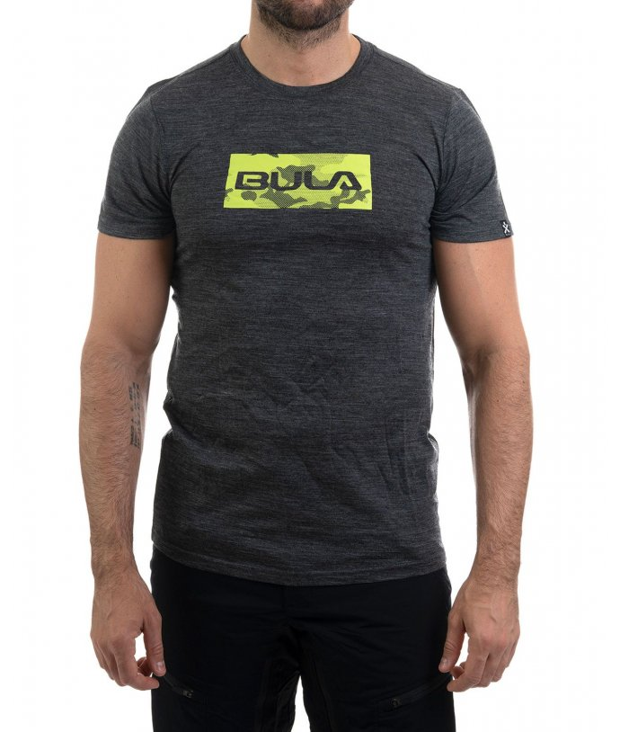 Pánské tričko Logo Merino Wool Tee Bula