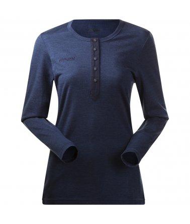 Dámské merino triko s dlouhým rukávem Bergans Henley Wool W Shirt