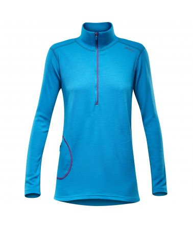 Devold Optimum woman zip neck, mikina, dámská