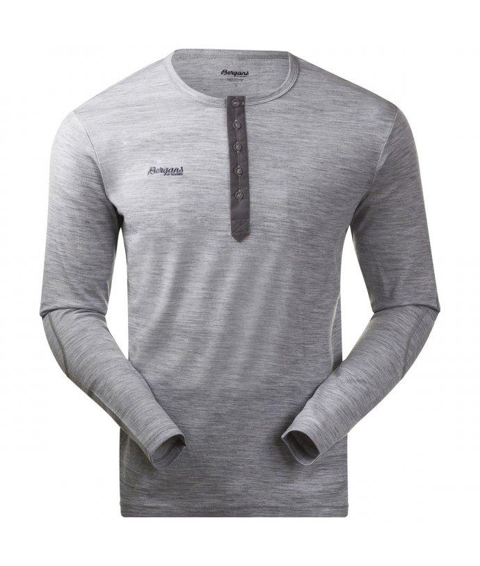 Pánské merino triko s dlouhým rukávem Bergans Henley Wool Shirt