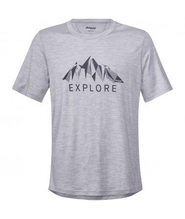Explore Wool Tee, pánské vlněné triko s krátkým rukávem