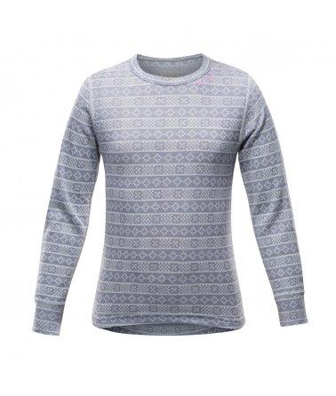 Juniorské hřejivé stylové vlněné triko Devold Alnes
