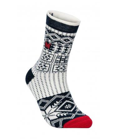 Vzorované vlněné ponožky OL History Socks