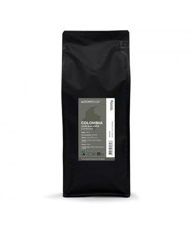 Celá zrna - Kolumbie, SURCAFE 1000g. Espresso, Fairtrade a organické.