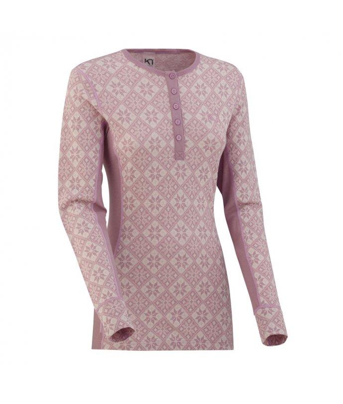 Dámské vlněné triko s dlouhým rukávem Kari Traa Rose