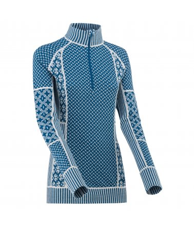 Dámské vlněné triko Kari Traa Sekker H/Z s dlouhým rukávem a stojáčkem