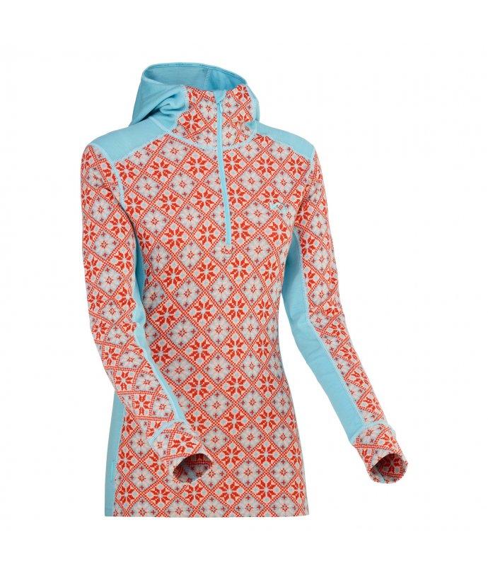 Dámské vlněné triko s dlouhým rukávem Kari Traa Rose Hood