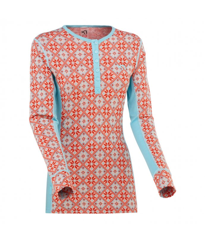 Dámské vlněné triko s dlouhým rukávem Kari Traa Rose LS