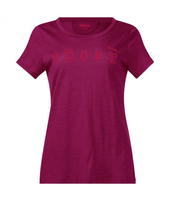 Dámské tričko s krátkým rukávem z Merino vlny Bergans Backpack Wool Lady Tee