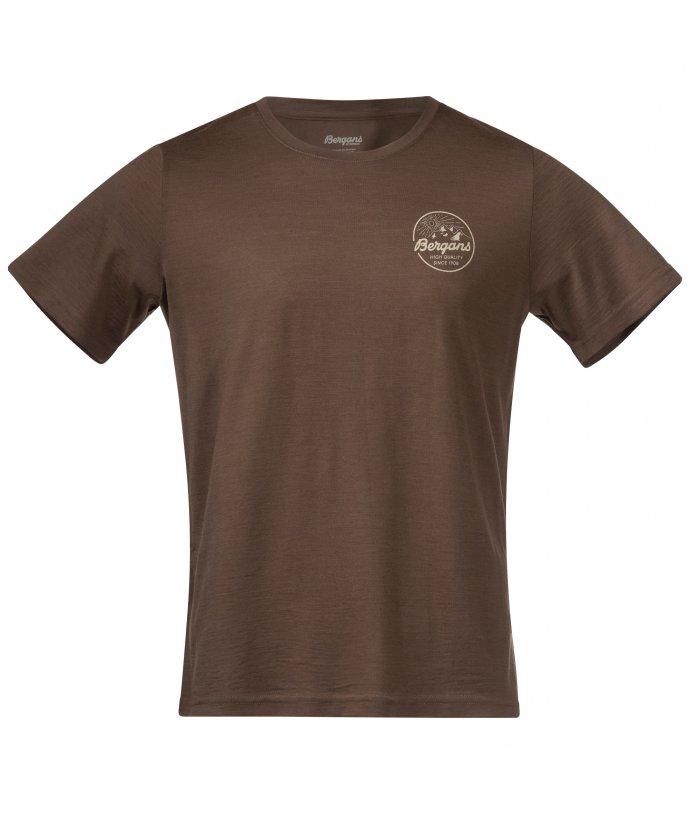Pánské tričko z Merino vlny Bergans Graphic Wool Tee