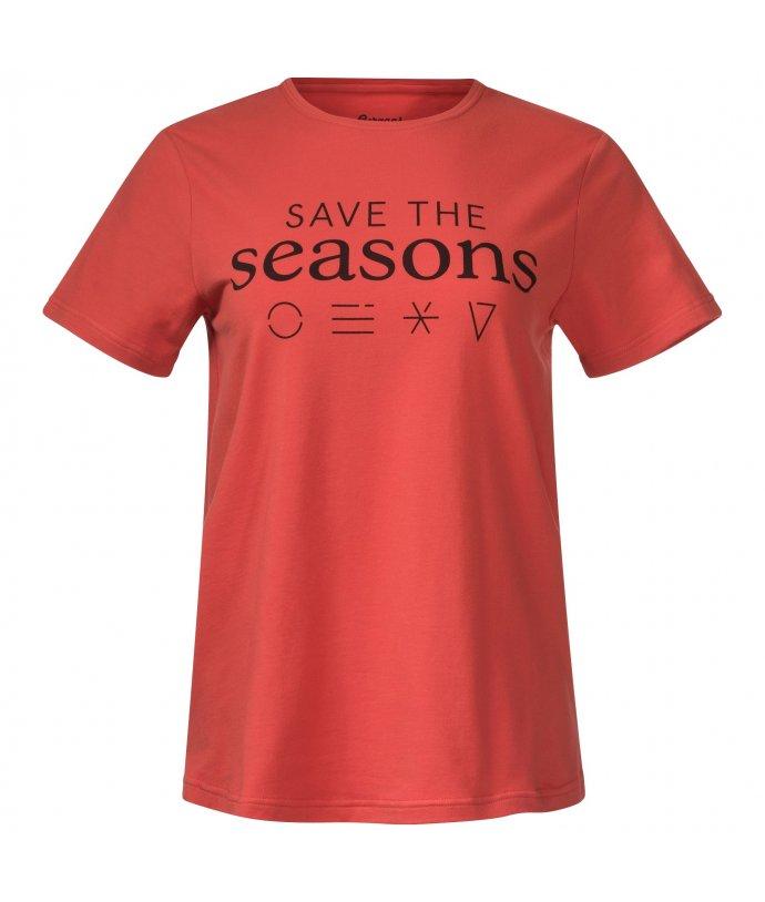 Dámské bavlněné tričko s krátkým rukávem Bergans Graphic W Tee