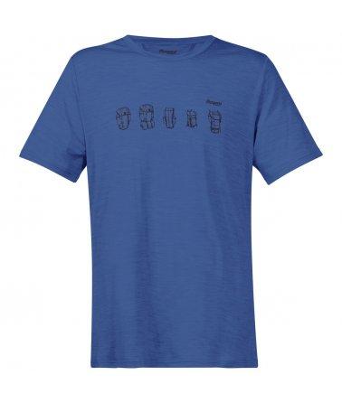 Pánské tričko skrátkým rukávem z Merino vlny Bergans Backpack Wool Tee