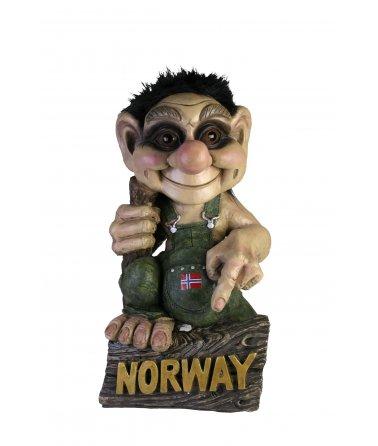 NORSKY TROLL S VLAJKOU A NÁPISEM NORWAY
