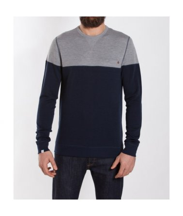 We Norwegians Base Two ColorBlock Crew Neck Men, pánské, triko