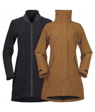 Nepromokavý a zateplený kabát Bergans Oslo 3in1 Women Coat