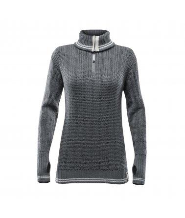 DEVOLD RANDERS WOMAN ZIP NECK, svetr, dámský