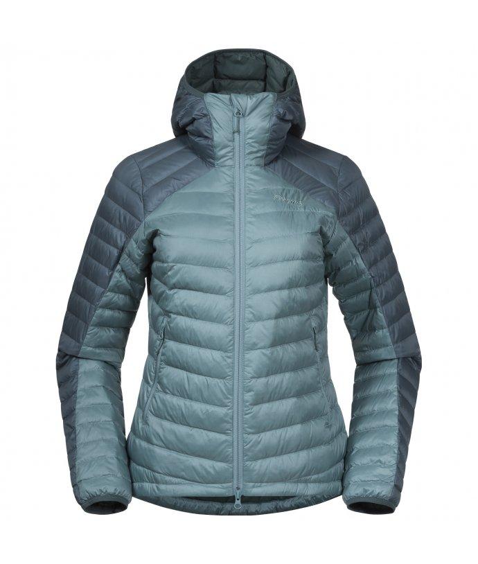 Dámská voděvzdorná péřová bunda Bergans Røros Down Light W Jacket w/Hood
