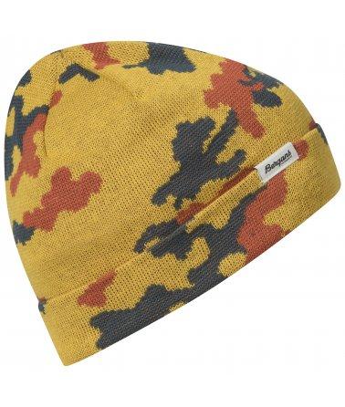 Dětská pletená čepice Bergans Camouflage Youth Beanie Fabric
