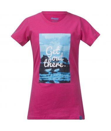 Bergans Flower Youth Girl Tee, triko, dívčí