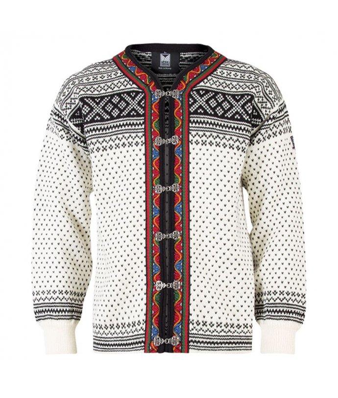 Klasický norský svetr se sponami Dale Setesdal