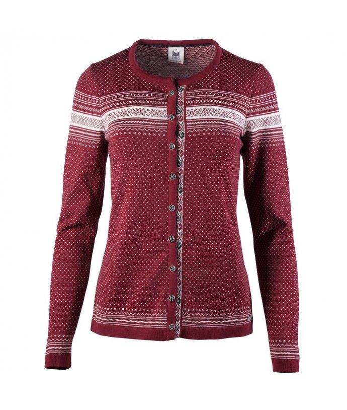Jemný vlněný svetr Hedda s drobnými norskými vzory z merino vlny