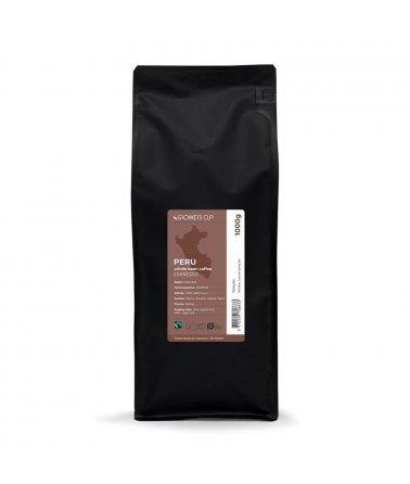 Jednodruhová zrnková káva, Peru 1000g. Espresso, Fairtrade a organické.