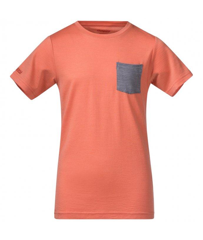 Dětské Merino tričko Bergans Myske Wool Youth Tee