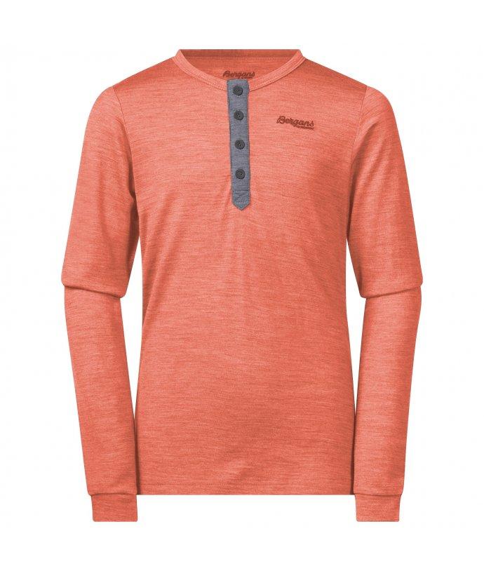 Dětské Merino triko s dlouhým rukávem Bergans Myske Wool Youth Shirt