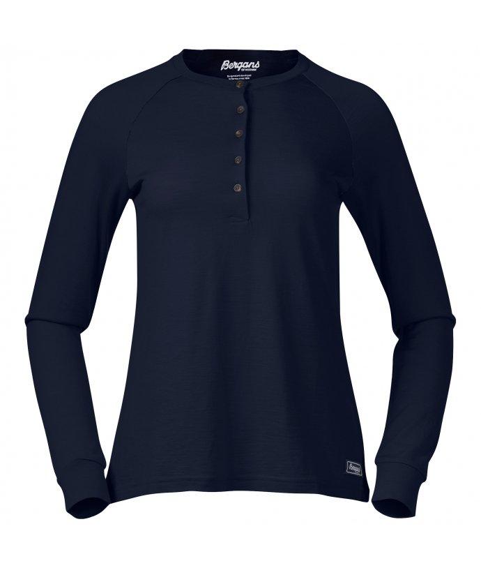 Dámské Merino triko s dlouhým rukávem Bergans Lysebu Wool W Henley