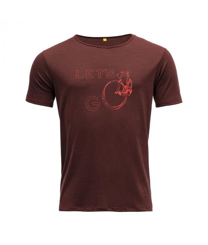 Vlněné tričko s krátkým rukávem Devold Molovegen