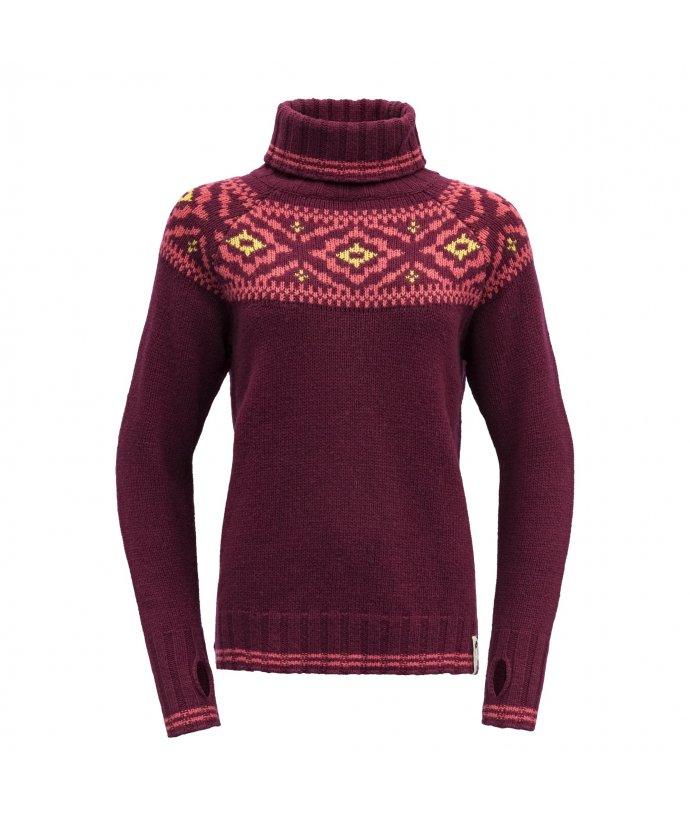 Dámský tradiční teplý vlněný svetr Devold Ona Round