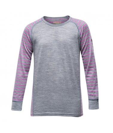 Juniorské super lehké pohodlné vlněné triko Devold Breeze