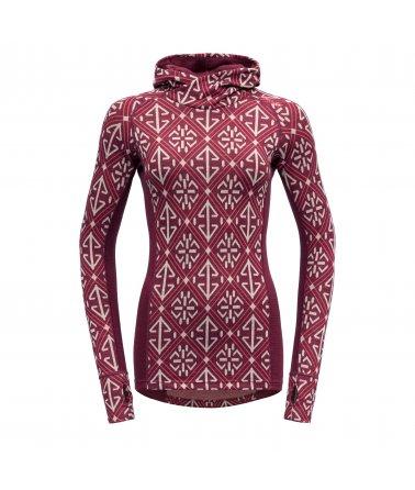 Dámské stylové vlněné tričko s kapucí Devold Liadalsnipa