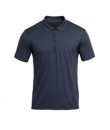 Vlněné tričko s knoflíčky a krátkým rukávem Devold Grip
