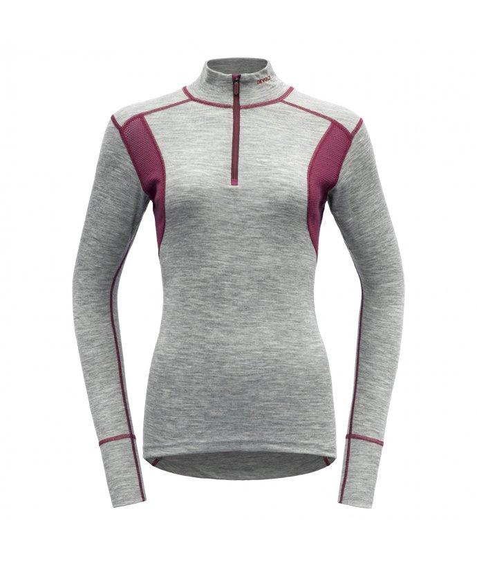 Dámské sportovní lehké vlněné triko se stojáčkem Devold Hiking