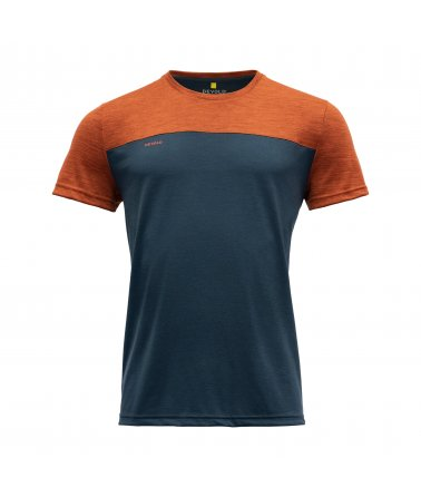 Pánské vlněné tričko s krátkým rukávem Devold Norang