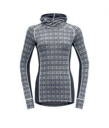 Dámské, stylové, vlněné triko s kapucí Devold Alnes