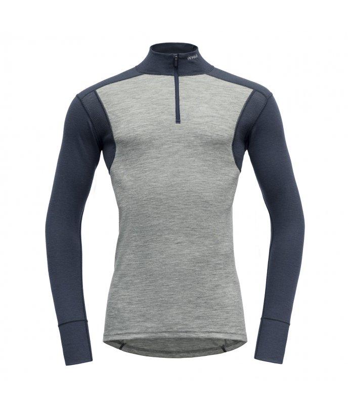 Pánské sportovní lehké vlněné triko se stojáčkem Devold Hiking