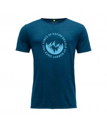 Pánské vlněné triko s krátkým rukávem Devold Leira