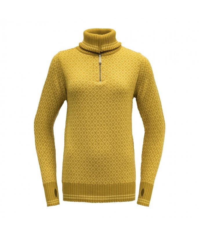 Dámský teplý vlněný svetr se zipem Devold Slogen
