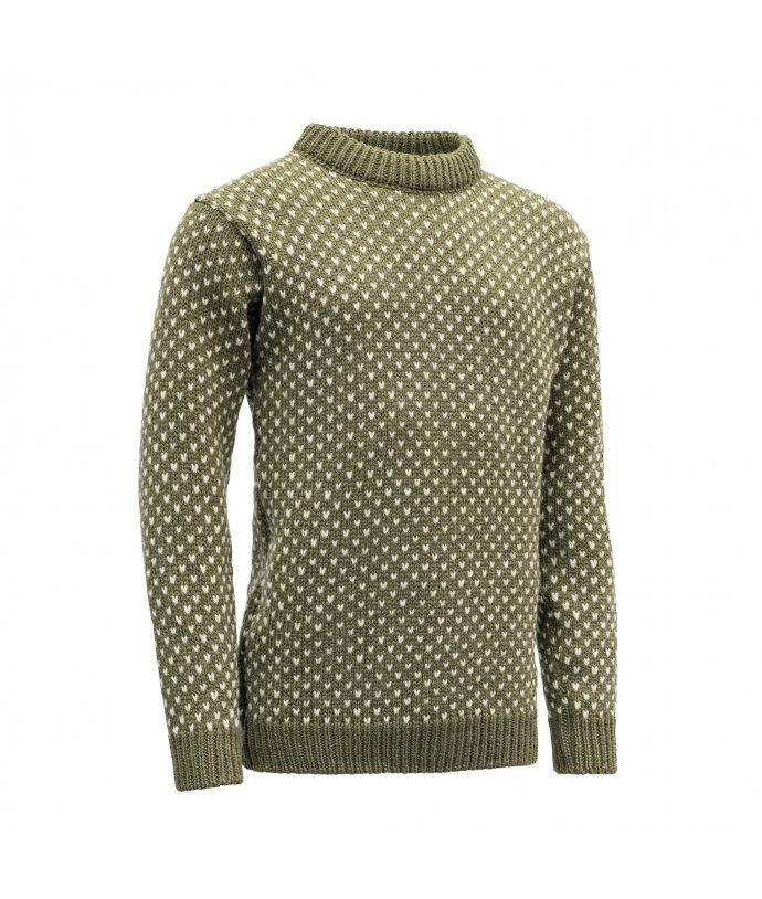 Tradiční stylový vlněný svetr Devold Nordsjo