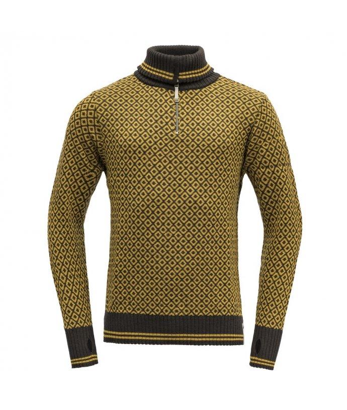 Teplý robustní vlněný svetr se zipem Devold Slogen