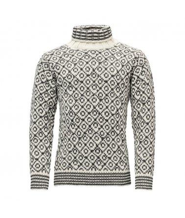 Teplý vlněný svetr s rolákem Devold Svalbard