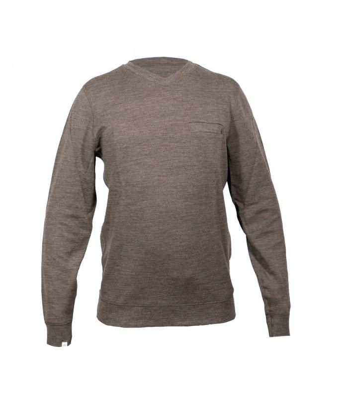 Pánský svetr BaseTwo V-Neck Sweater We Norwegians