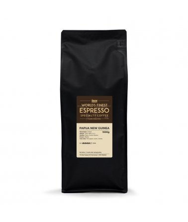 Jednodruhová zrnková káva Grower´s cup Papua New Guinea Espresso 1000G, Fairtrade & Organic
