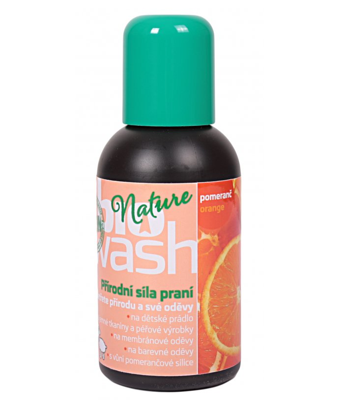Biowash prací gel, pomeranč