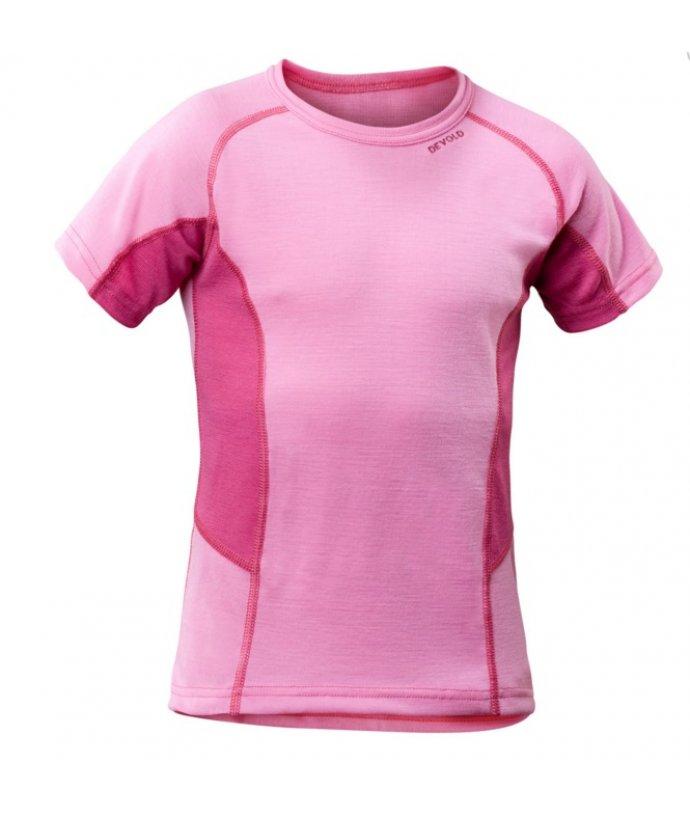 Multi sport triko kr. rukáv, růžové, dětské