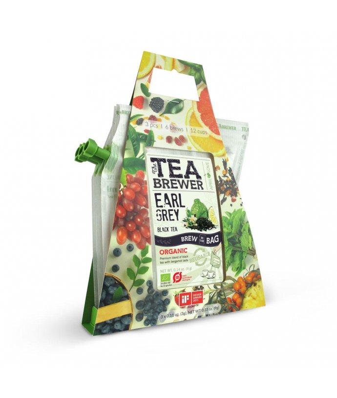 Čaj na cesty Grower's cup - čajová konvice zítřka – 3 v jednom balení