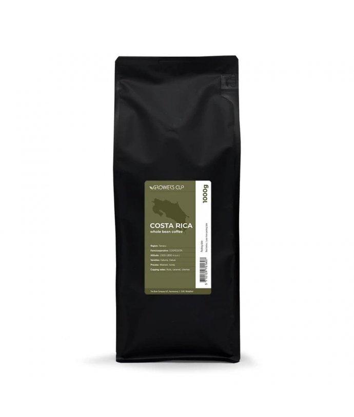 Jednodruhová zrnková káva Kostarika, TARRAZU, 1000 g. Fairtrade & Organic